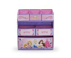 Delta Children, Mobiletto portagiochi con cassettini Principesse, Rosa