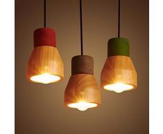 XX&GXM Creativa e moderna in stile Europeo di soggiorno sala da pranzo navate lampadari in legno, cemento color