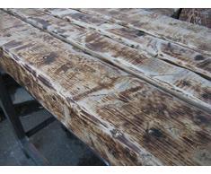 Natural Mente – Designer tavolo, tavolo da bar, Bancone, Tavolo, look industriale, Tavolino, Tavolo, antico, Rustico, 130 cm x 46,5 cm, altezza 110 cm