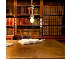 Lixada Lampada a sospensione vintage con corda di canapa per ristorante, bar e caffetteria (Illuminazione AC220V) 50 cm