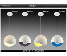 Semplice e moderno lampadario semicircolare Creative guscio d'uovo singola testa lampadario sala da pranzo Bar negozio lampadari di alluminio, diametro 30cm, Viola