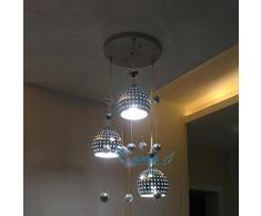 Moderna lampada a sospensione in alluminio Sala da pranzo cucina stanza 3 capi lampada a sospensione Balcone palline lampadari Scale Cellulare Ciondolo Illuminazione Fixtures