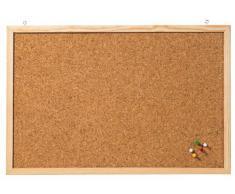 Franken CC-KT60100 - Bacheca messaggi in sughero, dimensioni: 60 x 100 cm, colore: Marrone