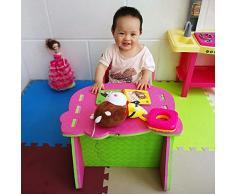 XMTMMD KIDS EVA puzzle set di tavolo e sedia bambini mobili Tavolo e sedia giocattolo per bambini in schiuma EVA facili da montare AMZPZY17