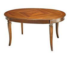 Tavolo ovale con intarsio