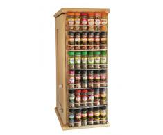 Avonstar Trading - Scaffale portaspezie, misura e colore a scelta, chrome, 1 ripiano