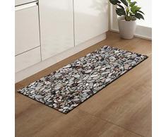 GHGYUF Zerbini Stampati tappeti Antiscivolo per Porta d'ingresso per Soggiorno Tappetini per tappeti da Cucina assorbenti, ciottolo 05,60x180cm