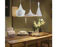 PinWei_ Lampadari d'epoca&Lampadario Sala da pranzo&Bar a sospensione Lampada a sospensione di alluminio strumento 3 , white