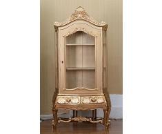 """Stile rococò armadio in stile credenza vetrinetta pensile """"Louis sequestrare"""" armadio colore: oro Höhe198cm xBreite100cm"""