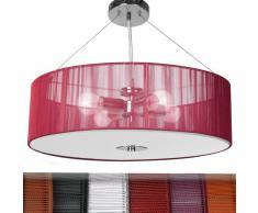 Jago Lampada lampadario a sospensione design retrò ca. 50/50/71 cm 4 luci colore rosso