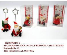 Idea bomboniere: idea natale set 4 pezzi segnaposto con soggetto natalizio con clip pinzetta portafoto
