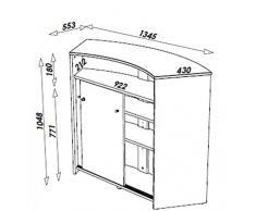 Simmob - Mobile bar - Bancone di accoglienza 2 porte nero - Colori - Buccia 911