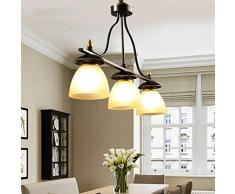 AMOS Retrò 3 lampadari Bar sala da pranzo lampada Cucina studio lampadario in vetro
