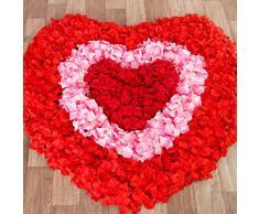 Qiuxiaoaa 2000Piece Simulazione Rose Petali Finti Mano cospargere Fiore Camera da Letto Sala da Pranzo Disposizione Decorazione Confessione Fare Luce Romantica Stringa Punto Rosso Scuro Nero