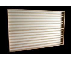 Vetrina (V83a) con scanalature per modellismo scala N e Z in legno di betulla, con 2 vetri di plexiglas, Dimensioni 100 x 84 x 6 cm, vetrinetta, bacheca, espositore, collezionismo