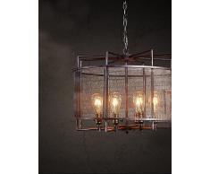 Illuminazione jiaily Booth Bancone Bar negozio di abbigliamento loft, ferro battuto fare vecchi lampadari antichi , 220-240V
