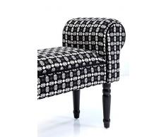 Kare Design 79331 panca imbottitura Bank Iceflower in bianco e nero a fantasia