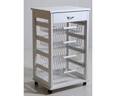 LIBEROSHOPPING.eu - LA TUA CASA IN UN CLICK Carrello Cucina Portafrutta con Cassetto Portaoggetti (Bianco)