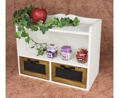 DanDiBo Scaffale Mini-comodino 12014 Scaffale a parete 37 cm Vintage Shabby stile country Scaffale da cucina bianco
