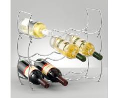Zeller 27356 - Scaffale portabottiglie a 3 ripiani, 42 x 14 x 14 cm, colore: Cromo
