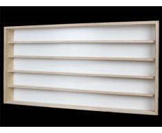 Alsino V110.5 Vetrina espositiva   110 x 49 x 8,5 cm   in Legno di Betulla Non trattato   5 Ripiani   2 Ante plexiglass scorrevoli   Modellismo   Collezionismo   Scala N e H0