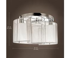 ALFRED® Luce di soffitto camera da letto design moderno 2 luci, Mini Style incasso, Lampadari di Corridoio, sala da pranzo, salotto