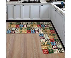 QZHYGE 2 Pezzi Tappetino da Cucina Antipolvere più Economico Antiscivolo tappeti Moderni Zona Soggiorno Balcone Bagno Tappeto Set zerbino Tappetino da Bagno nel corridoio 15