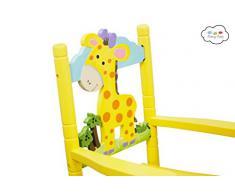 Teamson Kids Giraffe Sedia a Dondolo, Multicolore
