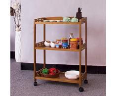 Cucina Sala da Pranzo Rolling Cart,Mobili Pranzo Auto cremagliere Rack di stoccaggio condimenti Cucina della Famiglia Carrello Pieghevole per Il Salone-A