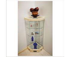 VM ART DESIGN GLASS Vetrina ad Angolo in stile Etnico art. VM E 500 T (Avorio)