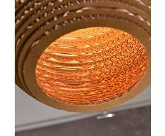 MSAJ-Nordic semplicitš€ personalitš€ creativa di silkworm pupa vintage ondulato lampadari artigianali lampadario sala da pranzo soggiorno studio 250/380*250/320mm , round