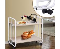 Generic e rotolamento ruota Cartlley T mensola pieghevole cucina servire Dinning Storage trolley Tier Rolling carrello pieghevole cucina S