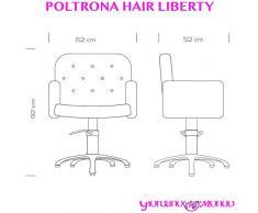POLTRONA DA SALONE PARRUCCHIERE E BARBIERE SEDIA HAIR LIBERTY PROFESSIONALE (BASE ROTONDA 375.045)