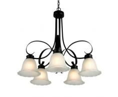 Continental ferro lampadario in vetro per lampadari in vetro classico moderno luci soggiorno / sala da pranzo / camera da letto comodino lampadario / corridoio (5 lampadario)