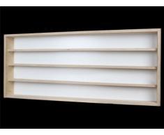 Alsino V100.4 Vetrina espositiva   100 x 39 x 8,5 cm   in Legno di Betulla Non trattato   4 Ripiani   2 Ante plexiglass scorrevoli   Modellismo   Collezionismo   Scala N e H0