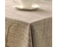 AIHOMETM & Linen-Tovaglia in cotone, motivo: arte giapponese, stile semplice, resistente, Plain tavolo da pranzo, per casa, bar, ristoranti, Hotel, cotone/lino, Type B, x-large