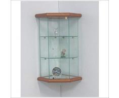 VM ART DESIGN GLASS Vetrinetta Angolare da parete art. VM502T-TR-CLG