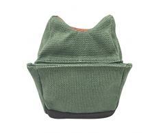 Tourbon caccia, in tela con finiture in pelle per fucile a panchina posteriori per borsa, colore: verde