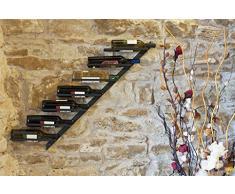 Scaffale per vini porta-bottiglie Diagon 100cm in metallo Scaffale porta-bottiglie Bar (sinsitra)