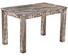 Brasil mobili tavolo da pranzo 'Rio classico' 120 x 73 cm, in legno massello di pino, tonalità in stile antico