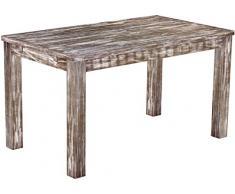 Brasil mobili tavolo da pranzo 'Rio classico' 140 x 80 cm, in legno massello di pino, tonalità in stile antico