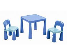 Liberty House, Tavolino per bambini, con 2 sedie, Blu (blau)