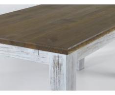 Brasil mobili tavolo da pranzo 'Rio classico' 177 x 90 cm, in legno di pino massiccio, colore bianco antico - rovere anticato