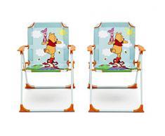 Disney Winnie the Pooh Set Tavolo, Sedie e Ombrellone da Giardino