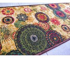 Chakra 2 tappetini Poliestere Pavimento Tappeto Super Assorbente Eco-friendly in lattice antiscivolo Tappeti Per La Cucina camere da Letto Sala Conservatorio 137 x 49 cm