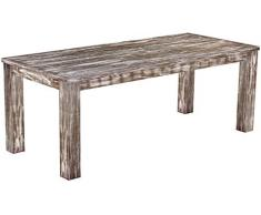 Brasil mobili tavolo da pranzo 'Rio classico' 208 x 90 cm, in legno massello di pino, tonalità in stile antico