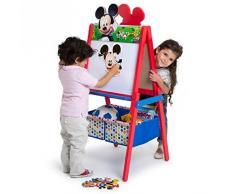 Delta Children TE87509MM Cavalletto Doppia Faccia in Legno Mickey Mouse, Rosso/Blu 55.88x55.88x115.70 cm
