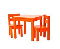 Hoppekids MDF Mads sedia per bambini, legno, arancione