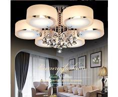 FAYM - lampada da parete Moderno cristallo LED luci a soffitto Ligting infissi lampadari per soggiorno sala da pranzo Camera da letto , 3 spie