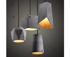 XX&GXM Creativa e moderna in stile Europeo di soggiorno sala da pranzo corridoio lampadari di cemento, b